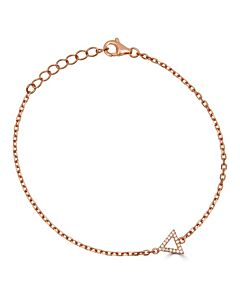 Petite Chain Bracelet with Diamond Triangle