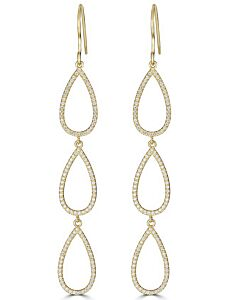 Pear Shaped Dangling Earrings