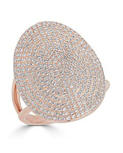 Bold Diamond Ring in Rose Gold