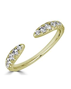 Graduated Diamond Cuff Ring in Yellow