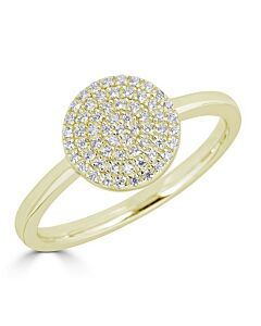 Pave Diamond Circle Ring in Yellow
