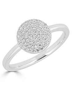 Pave Diamond Circle Ring