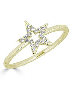 Diamond Star Ring in Yellow