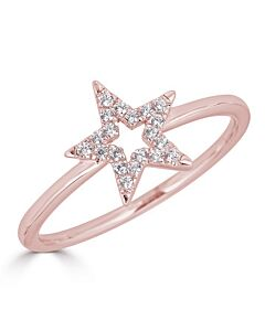 Diamond Star Ring in Rose
