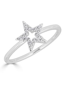 Diamond Star Ring in White