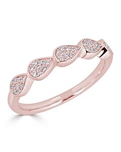 Pear Shaped Diamond Ring in Rose