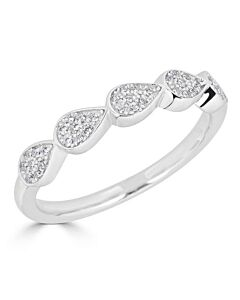 Pear Shaped Diamond Ring in White