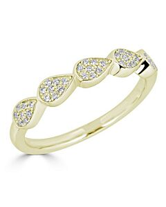 Pear Shaped Diamond Ring in Yellow