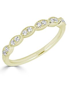 Marquise Shaped Diamond Ring in Yellow