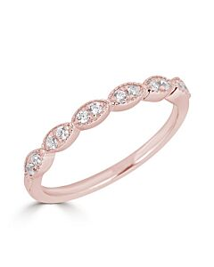 Marquise Shaped Diamond Ring in Rose