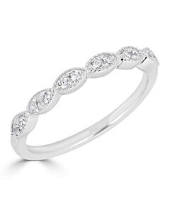 Marquise Shaped Diamond Ring in White
