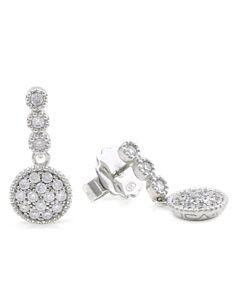 White Sapphire Drop Earrings