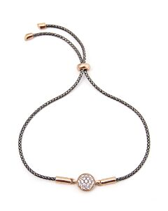 Bolo Style Bracelet in Black and Rose