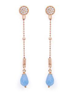 Versatile White Sapphire and Aquamarine Earrings