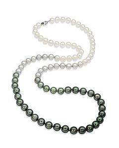 Graduated Color Cultured Pearl Necklace
