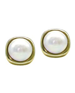 Cultured Mobe Pearl Earrings