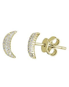Crescent Moon Earring Studs