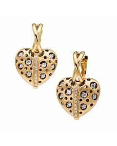 Mirror Striped Heart Earrings
