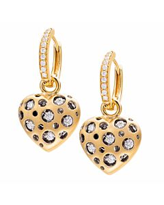 Detachable Mirror Heart Earrings
