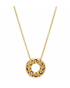 Mirror Diamond Circle Pendant