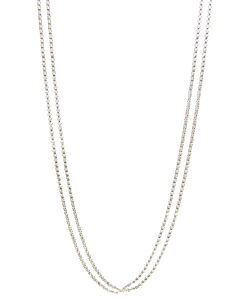 Double Cable Necklace in Sterling Silver