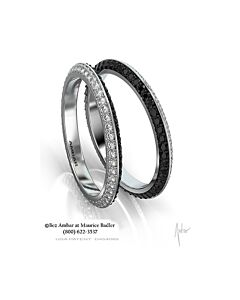 Black and White Diamond Eternity Ring