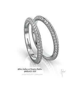 Knife Edged Diamond Eternity Ring