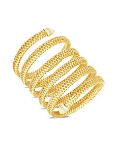 Primavera 6 Row Flexible Diamond Snake  Bracelet